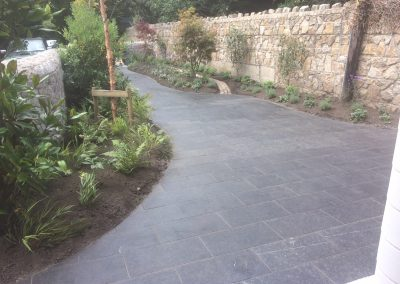 Kilkenny Limestone and granite path.