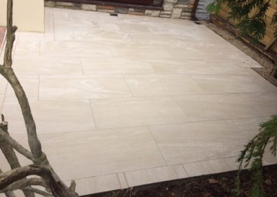 small Patio using Porcelain slabs